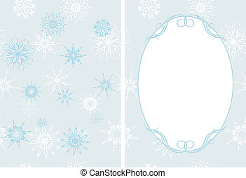 Frame with snowflakes