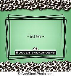 Frame with soccer balls