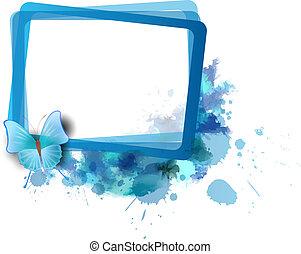 Frame with splashes