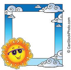 Frame with summertime theme 2 - vector illustration.
