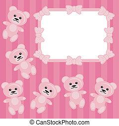 frame with teddy bears