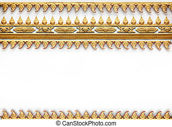 Frame with Thai art wall pattern