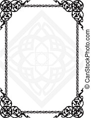 frame with the Arab pattern - background for a registration...