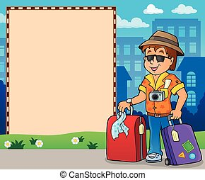 Frame with travel thematics 2