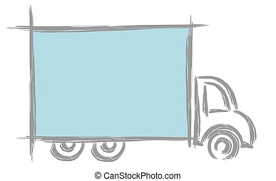 Frame with truck.