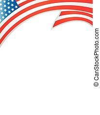 Frame with USA flag