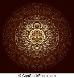 Frame with vintage floral patterns