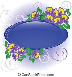Frame with violets