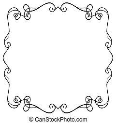 frame, witte achtergrond, sierlijk