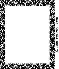frame, witte , ontwerp, van een stam, verfraaide, randjes