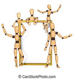 Frame  wooden dummy