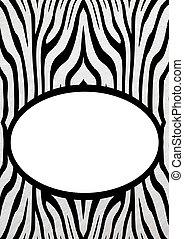 frame, zebra