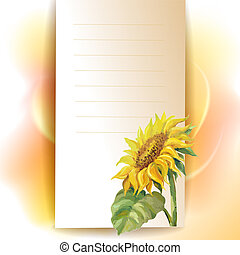 frame, zonnebloem, achtergrond
