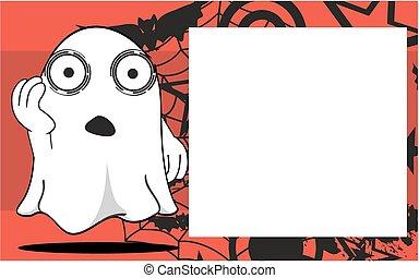 frame9, halloween, dessin animé, fantôme