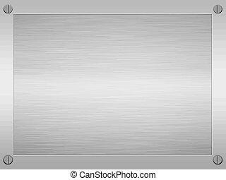framed brushed metal