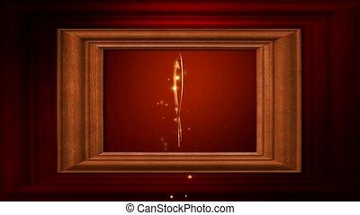 Framed gold heart