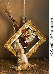 Framed hunting still life