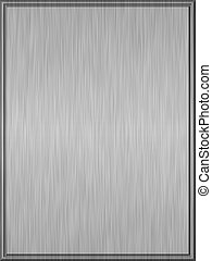 Shiny brushed metal plate with sharp edges