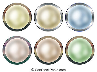 Framed Pearl Buttons Collection