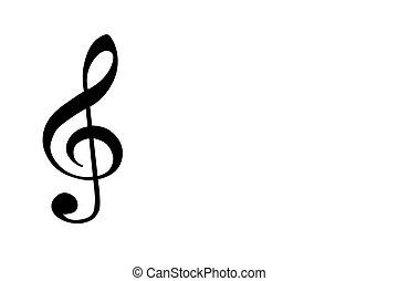 treble clef - Framed treble clef