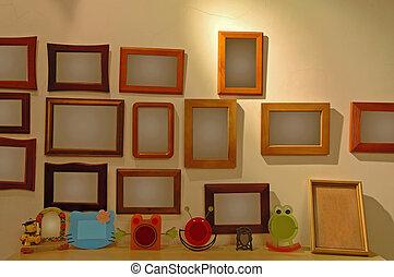frames, фото, стена