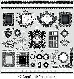 Frames and borders decoration ornam