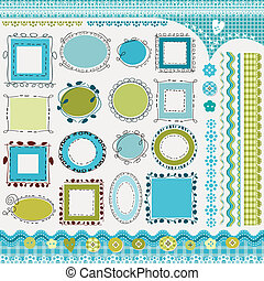 frames and borders pack - borders and doodled frames pack