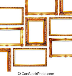 frames - golden frames in antique style for your pictures