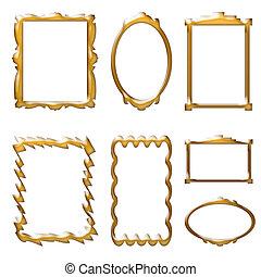 Frames - Colored frames, crystallized brown color