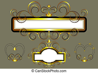 Frames decorated with gold stars an