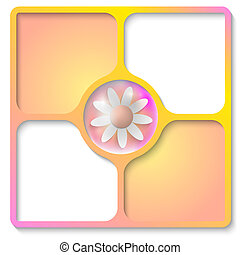 frames for text with flower