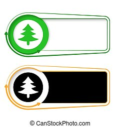 frames for your text with arrows and tree symbol