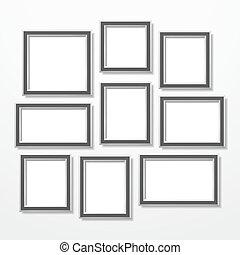 Frames set, vector eps10 illustration