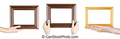 Frames in hand