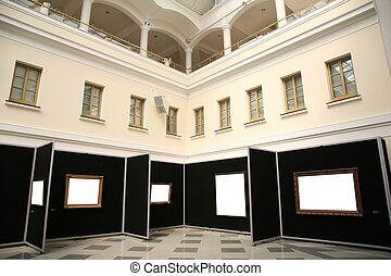 frames in the museum