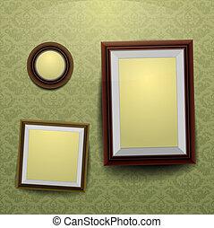 Frames on a wall