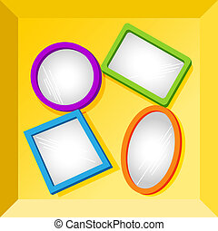Frames or mirror at the bottom of a box