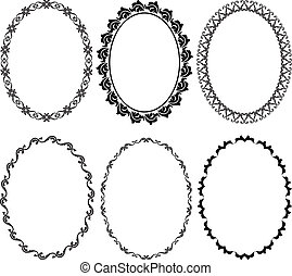 silhouette oval frames