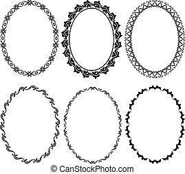 frames oval - silhouette oval frames
