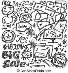 frames, sale - doodles