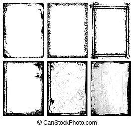 Frames & Textures - Set of different frames & textures.