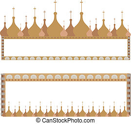 Frames with Domes - Frame illustrations with onion domes...