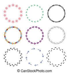 Frames_Circle_09 - Vector set grunge circle brush strokes...