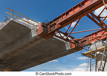 Framework close-up - Construction superstructure by ...