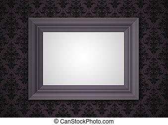 Design virgin framework on dark floral wallpaper