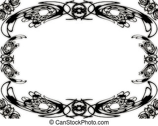 patterns on a white background - Framework for a photo - ...