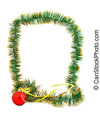 Framework from a garland and Christmas decorations