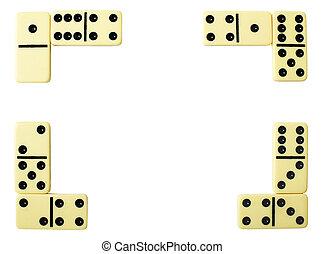 Framework from dominoe - Framework from white bones of a ...