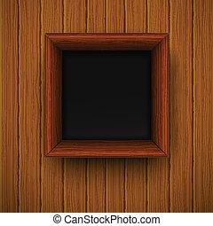 framework., illustratie, houten, vector