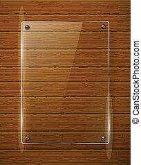framework., struttura, illustrazione, legno, vettore, vetro